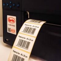 Čárový kód na samolepicí etiketě